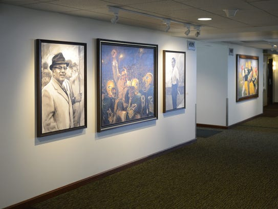 The Green Bay Packers have added artwork to the suite