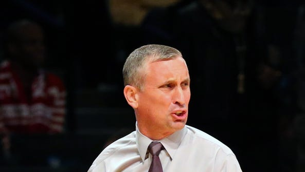 Arizona State Sun Devils head coach Bobby Hurley during