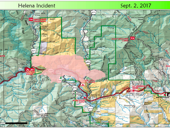 The Helena Fire is burning in Trinity County and has