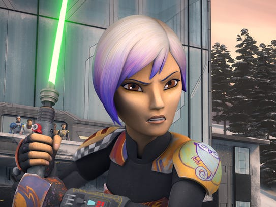 Artistic warrior Sabine Wren is a 'Star Wars Rebels'