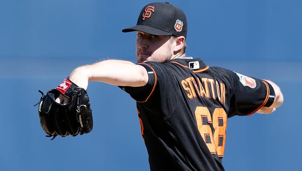 Th San Francisco Giants called Chris Stratton up from