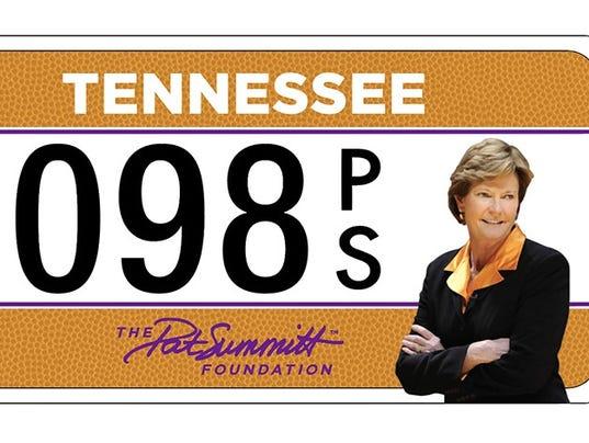 Pat Summitt license plate