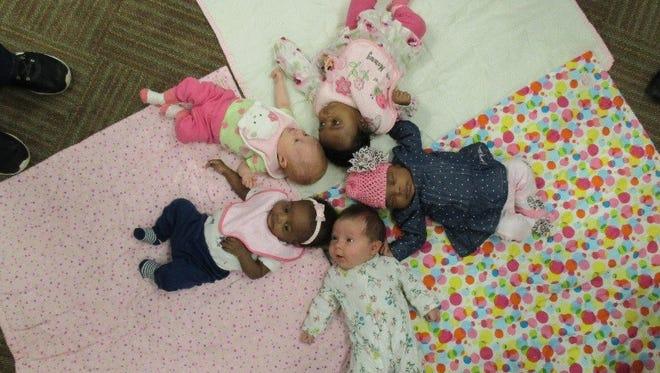 Babies at Grace Health in Battle Creek.