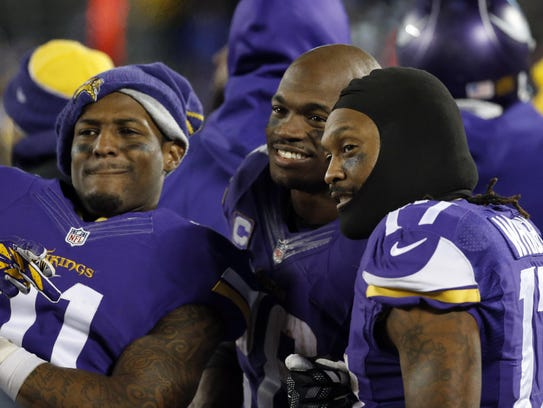 Minnesota Vikings wide receiver Mike Wallace (11),