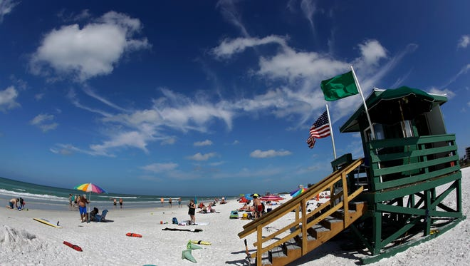 This May 18, 2017 photo shows Siesta Beach on Siesta Key in Sarasota, Fla. Siesta Beach is No. 1 on the list of best beaches for the summer of 2017 compiled by Stephen Leatherman, also known as Dr. Beach, a professor at Florida International University. (AP Photo/Chris O'Meara)