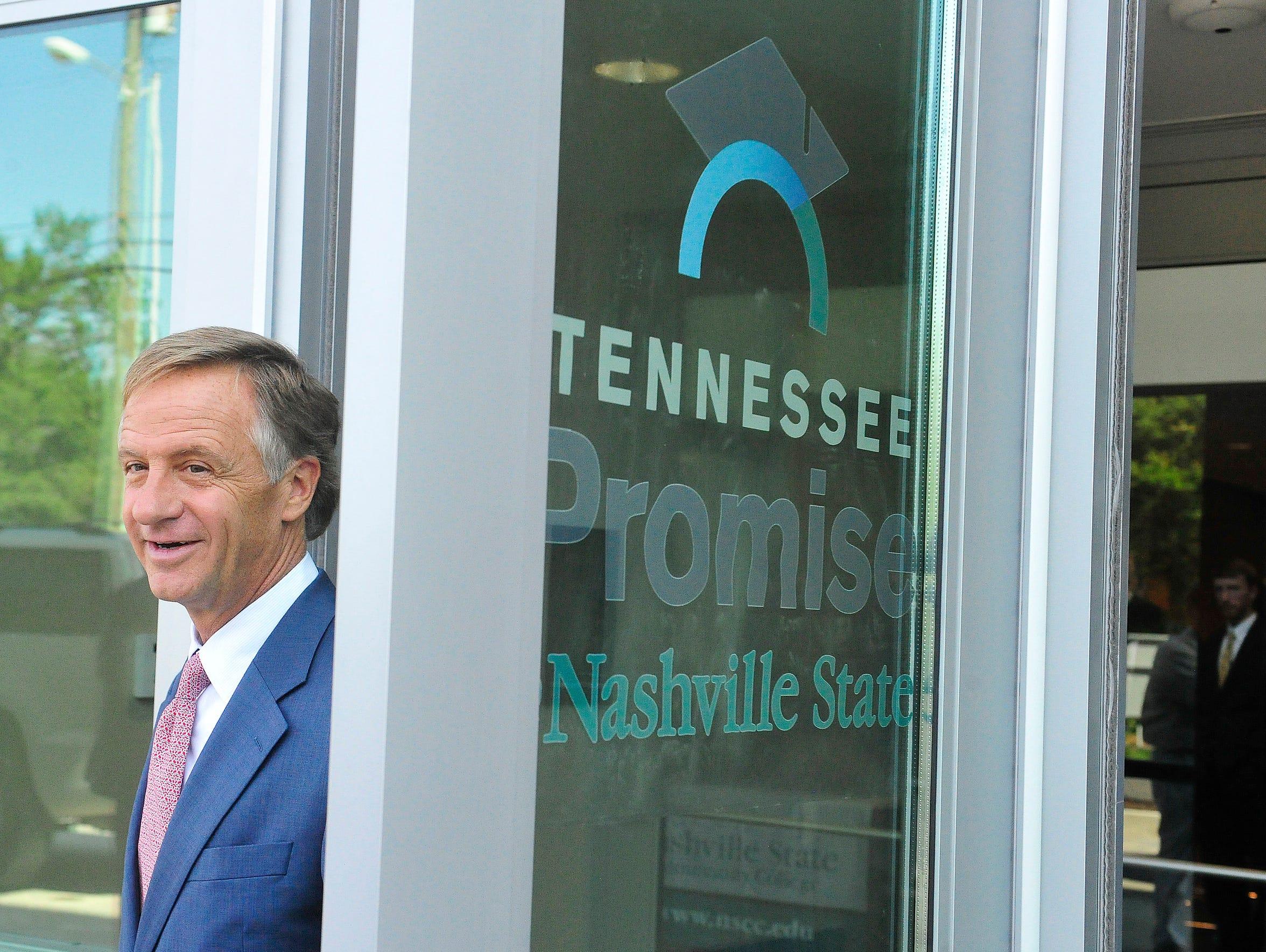Gov. Bill Haslam visits Nashville State.
