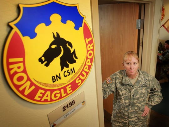 Command Sgt. Maj. Gloria Cain is the 127th Aviation Support Battalion's new command sergeant major.