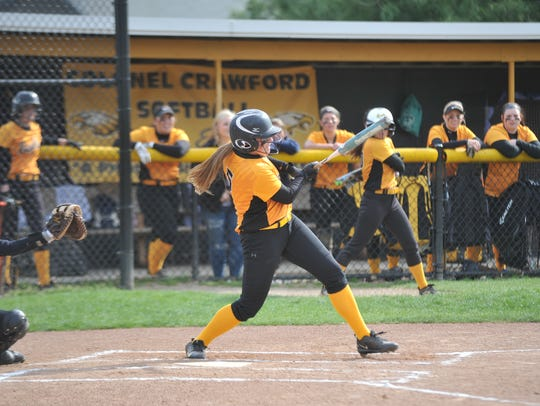 Danielle Horsley led-off the game with a home run.
