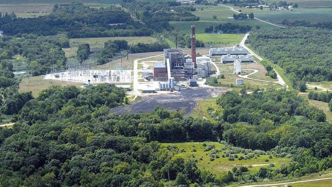 A coal-ash pond at Dynegy's Vermilion Power Station near Oakwood, Ill.