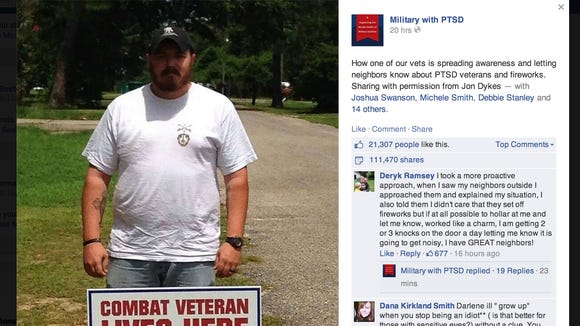 Military with PTSD Facebook page