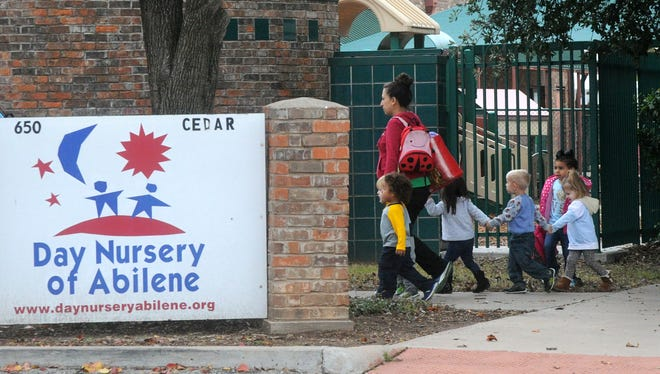 Children from the Cedar Street branch of Day Nursery of Abilene were evacuated to the Abilene Civic Center for about 40 minutes because of smoke at the center Monday morning, Dec. 5, 2016.