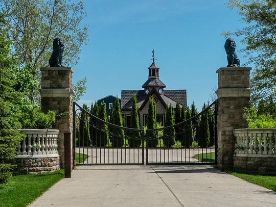 The front gate of the home of the Rev. Jonathan Wehrle