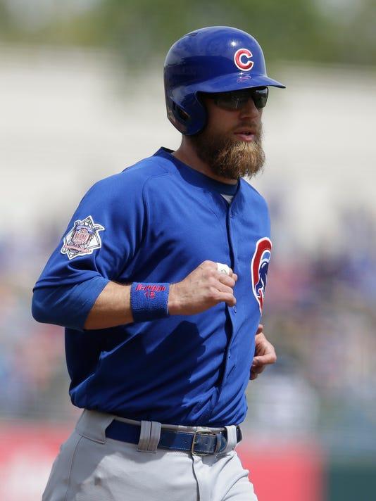 USP MLB: SPRING TRAINING-CHICAGO CUBS AT KANSAS CI S BBA KC CHC USA AZ