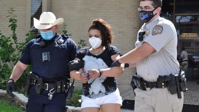 Hillary Sanchez was arrested after law enforcement seized narcotics and cash from a vehicle she occupied.