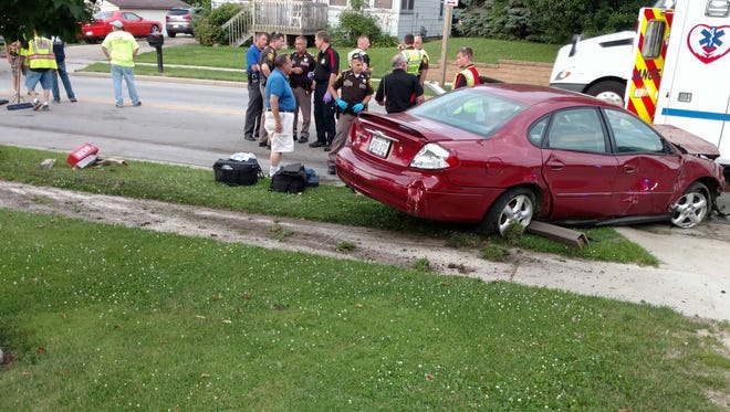 A 17-year-old Oshkosh teen led sheriff's deputies on a pursuit through two counties on July 11, that ended in a crash in Rosendale, in Fond du Lac County. Charges are pending for the male driver.