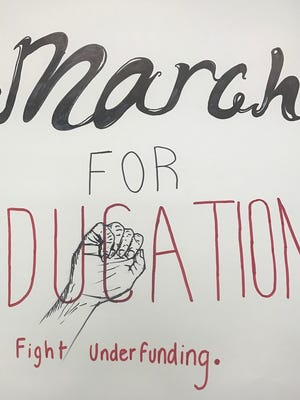 Clifton students plan to carry signs protesting a state funding shortfall to city schools during next Wednesday's march to City Hall.