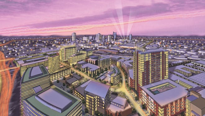 This rendering shows what the Gulch could look like 15 years from now.