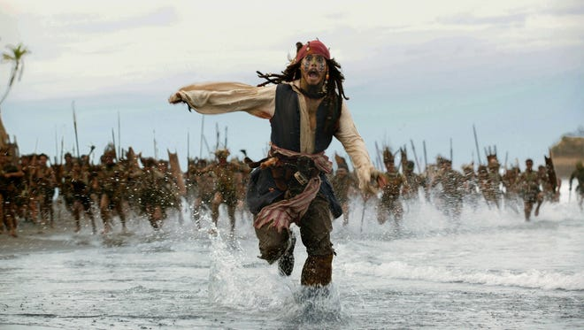 Johnny Depp brought tomfoolery to the big screen as Captain Jack Sparrow in the Pirates of the Caribbean series.