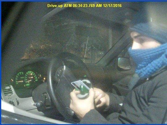 Police are looking for the person seen in this photo taken from a surveillance video.
