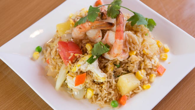 The pineapple fried rice at Ginger Thai Kitchen, a new restaurant.