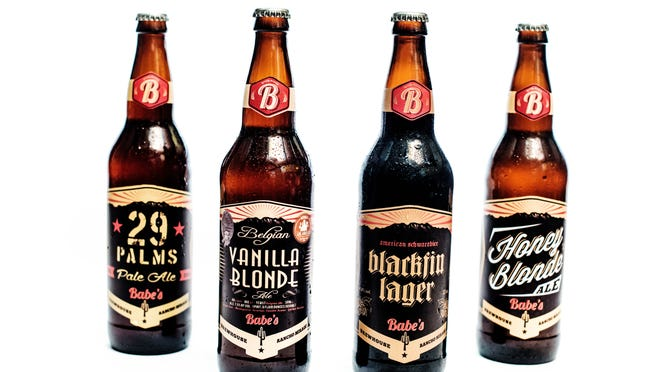 Babe's four flagship beers, which will all be served at the sushi and beer pairing dinner.