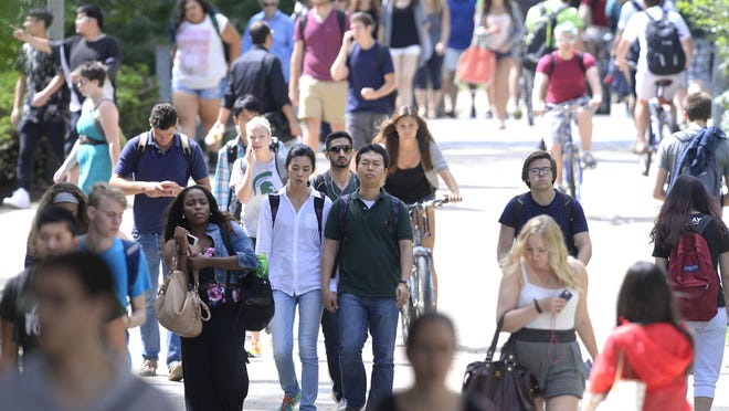 After years of explosive growth, the number of international students in MSU's freshman class will dip this fall.