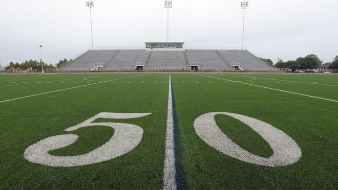 Football fields at five of the six schools in Bossier Parish could soon look like this.