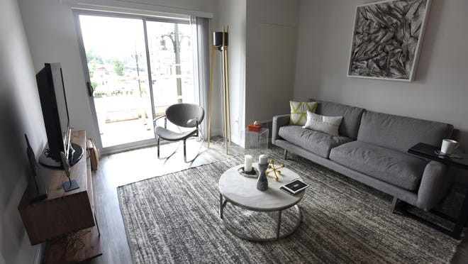 Rents range from $949 a month for a studio to $2,893 a month for a three-bedroom unit at The Scott at Brush Park.