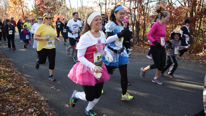 Runners take part in the 2015 Leah's 5K run/walk on Oct. 31.