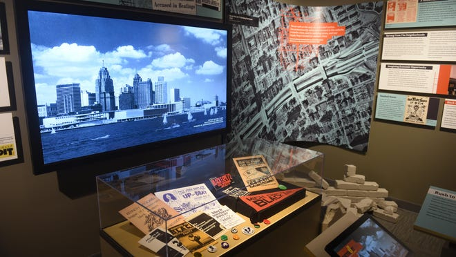 """Memorabilia is seen at the """"Detroit '67: Perspectives"""" exhibit that opens Saturday at the Detroit Historical Museum."""
