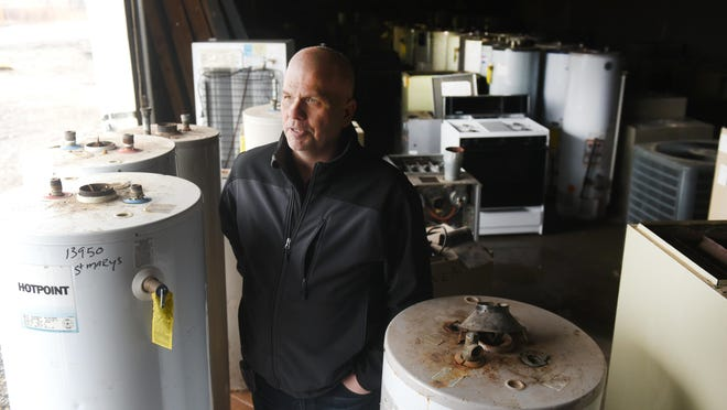 Virulent scrapping has Garner Properties and Management owner Chris Garner moving furnaces and water heaters to a warehouse within 24 hours of a rental being vacated.