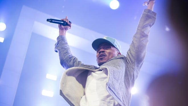 Chance the Rapper performs at The Palace of Auburn Hills, Thursday May 18, 2017.