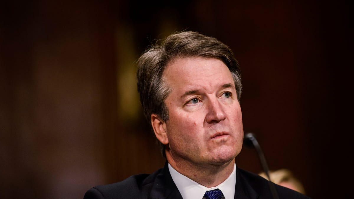 Supreme Court nominee Judge Brett M. Kavanaugh testifies before the Senate Judiciary Committee on Thursday.