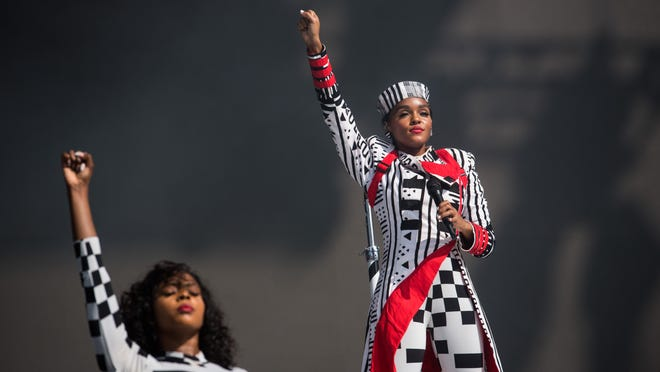 Janelle Monáe performs Sunday afternoon during weekend one of the 2018 Austin City Limits Music Festival in Zilker Park.