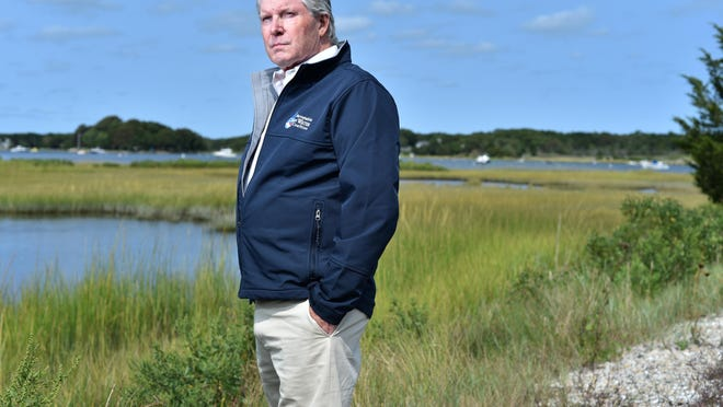 """Zenas Crocker, executive director of the Barnstable Clean Water Coalition, said he doesn't want the economy on Cape Cod to stop in its tracks, but wants it to move forward responsibly. """"We know where the problem comes from and for decades we have had an ostrich-like, head-in-the-sand approach to the problem,"""" he said."""