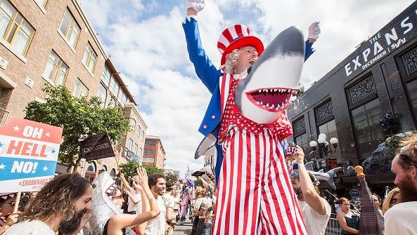 Sharknado fans on July 11, 2015 in San Diego, California.