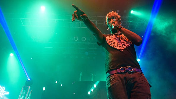 Young Thug performs at the Fillmore Silver Spring in Silver Spring, MD, as part of Travis Scott's Rodeo Tour 2015.
