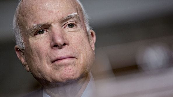 "Sen. John McCain has a new memoir coming out in which he is expected to offer ""no-holds-barred opinions on the current developments"" in Washington."