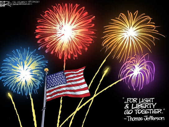 Fourth of July cartoon