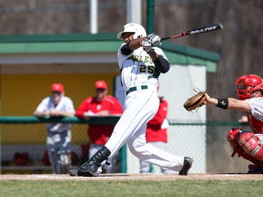 Eli Carerra recorded 19 hits in 68 at-bats in his first season with The College at Brockport baseball team.