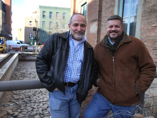 Lewis Stess of Rochester and Michael Philipson are co-founders of Greentopia.  Greentopia is working on reviving a deserted artificial raceway in Browns Race.