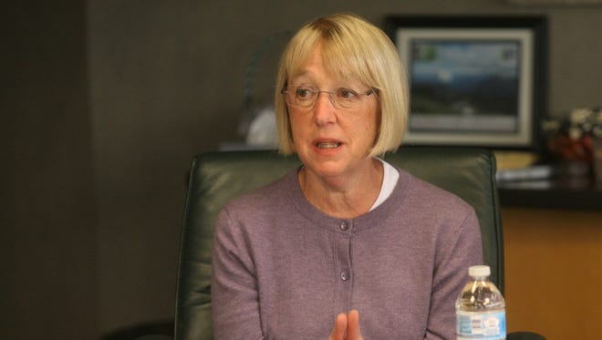 Sen. Patty Murray, D-Washington, discusses opioids Thursday at Peninsula Community Health Services in Bremerton.
