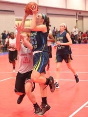 Monroe-Woodbury's Willow Duffell plays with her Empire State Basketball Club travel team.