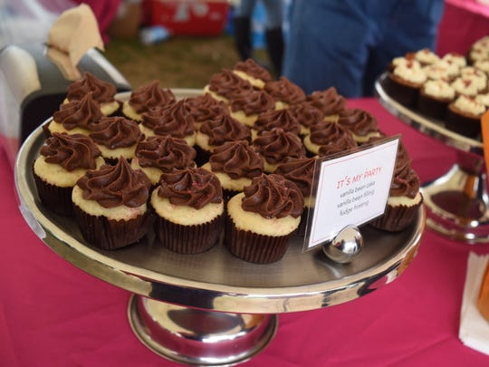 Moxie Cup of New Paltz handed out some of their signature vanilla bean miniature cupcakes at Taste of New Paltz Sunday at the Ulster County Fairgrounds.
