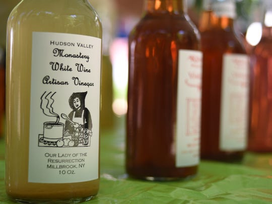Bottles of vinegar will be offered for sale during the annual Monastery Christmas Festival Fair this weekend and next.