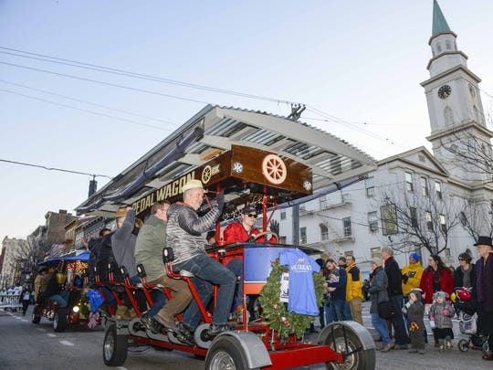 Pedal Wagons are normally a common sight throughout Downtown and Over-the-Rhine.