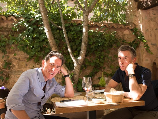 Rob Brydon (left) and Steve Coogan enjoy culinary delights