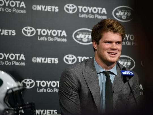 Jets first-round draft pick Sam Darnold at Atlantic