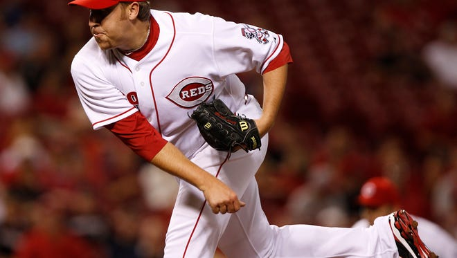 Aaron Harang in 2010 when played for the Reds.
