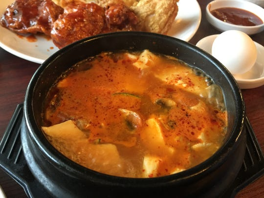 Tofu House, a new Korean restaurant on East Moana Lane in Reno, serves several styles of soft tofu soup, including this pork version.